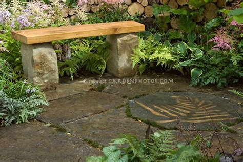 stone and wood bench pin by nan shirley on deck and patio ideas pinterest