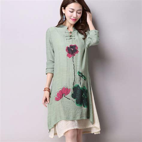 desain long dress simple aliexpress com buy 2016 spring new women s national wind