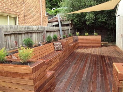 Plans For Planter Boxes For Decks by Deck With Planter Boxes Style Pixelmari