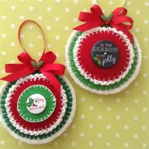 christmas felt ornaments whimsical handmade by craftsbybeba