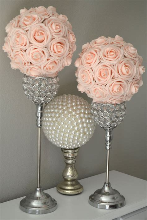 PINK BLUSH Kissing Ball. Wedding Centerpiece. Pink Blush