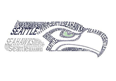 art design jobs seattle seahawks logo type in shape on behance
