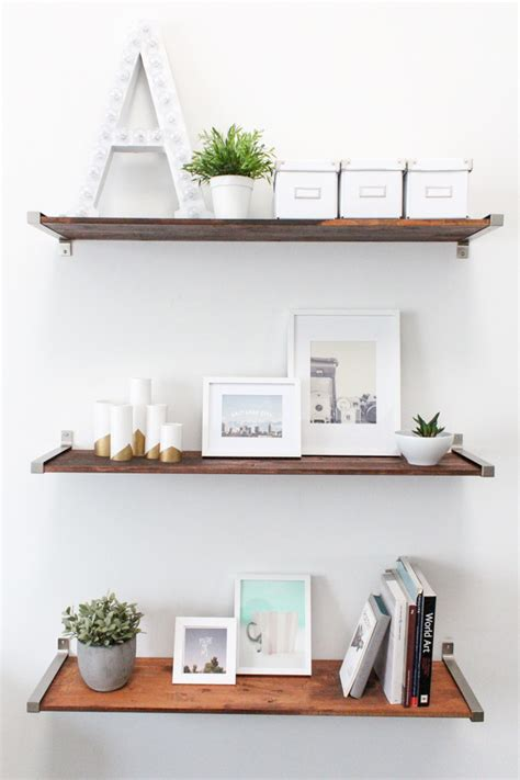 diy ikea hack distressed wooden shelves to elevate your home