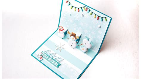 snowman creative pop up card template snowman pop up card sue s creative workshop