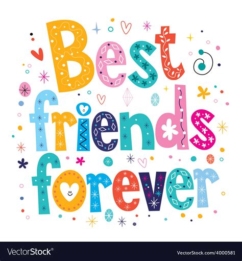 best images free best friends forever royalty free vector image