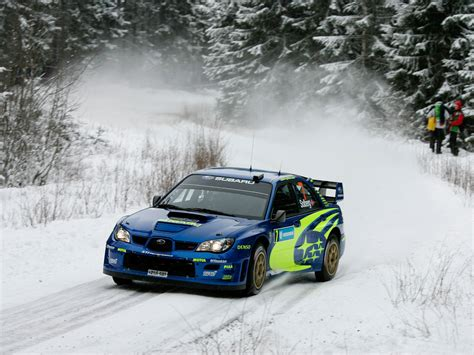 Subaru Wrc Rally Snow Winter Snow Wallpapers