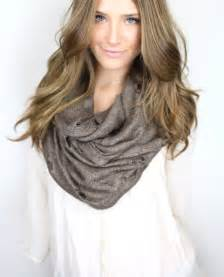 How Should An Infinity Scarf Be Brown Chunky Infinity Scarf Vintage From Gertiebaxter On Etsy