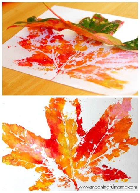 autumn leaves crafts for fall leaf prints leaf prints leaves and craft
