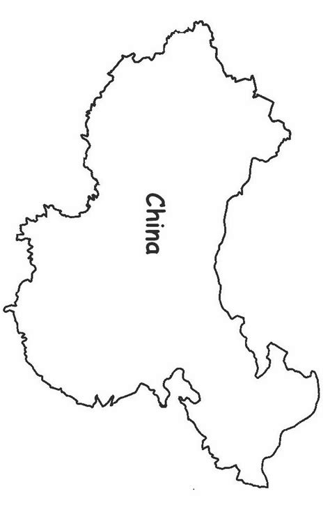 Country Outline by China Outline Pictures To Pin On Pinsdaddy