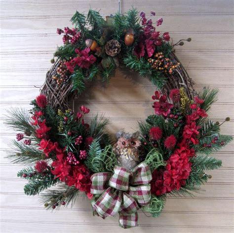 Front Door Wreaths For Winter Winter Wreath Owl Wreath Woodland Wreath Door Wreath Front Door Wreath Entry Wreath Porch