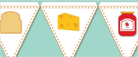 food bunting free early years primary teaching