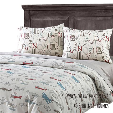 airplane bedding twin quot jacob quot vintage airplane fitted bunk bed comforter