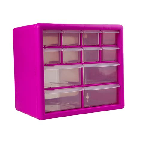 Pink For Drawers by The Original Pink Box Pink 12 Drawer Organizer Tools