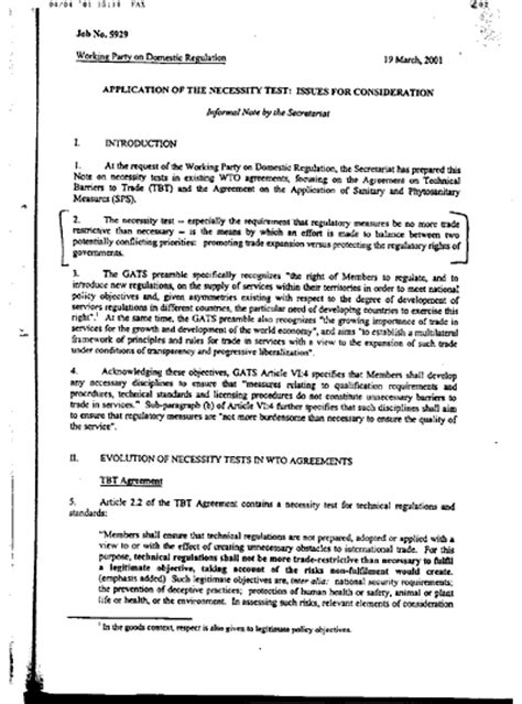 confidential memo template wto confidential memo 12 nov 2001