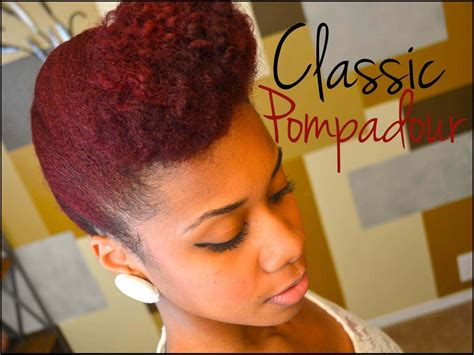 tutorial natural hair styles updo natural hair tutorial classic pompadour youtube