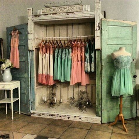 Vintage Closet Doors Shabby Chic Wardrobe Tienda Ropa Summer Shabby Chic And Fabrics