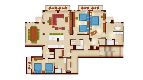 disney 3 bedroom villas copper creek villas cabins at disney s wilderness lodge dvc rental store