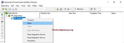 informatica powercenter workflow monitor informatica workflow monitor