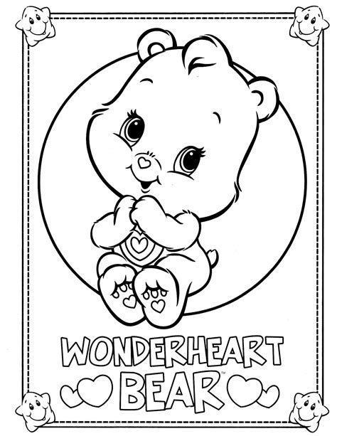 wonderheart bear coloring pages care bears 42 coloringcolor com