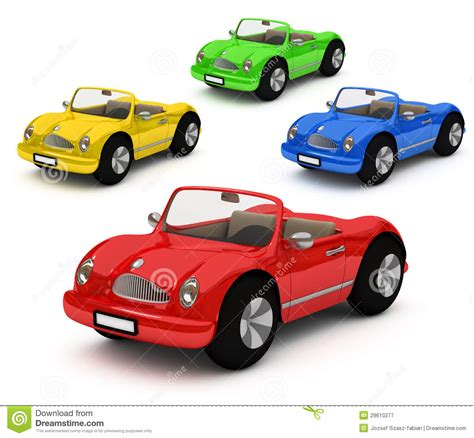 colorful cars 3d rendering of colorful cars car stock illustration