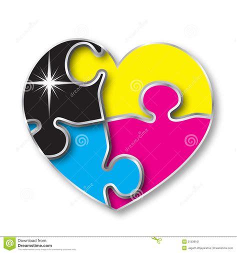different ideas cmyk color puzzle stock image image 31538101