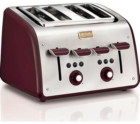 Small Stainless Steel Toaster Buy Tefal Maison Tt7705uk 4 Slice Toaster Stainless