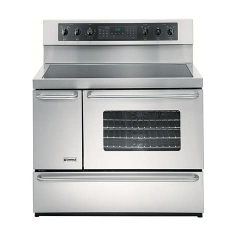 Dining Room Outlet by Kenmore Elite 99613 5 4 Cu Ft Double Oven Electric Range Stainless Steel Sears Outlet