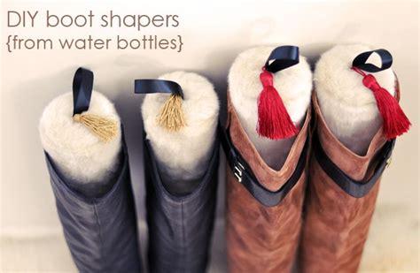 boot stuffers chic faux fur diy boot stuffers from water bottles diy