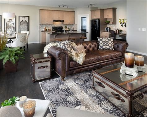 living room design ideas with brown leather sofa chocolate brown sectional couch decoracion pinterest brown