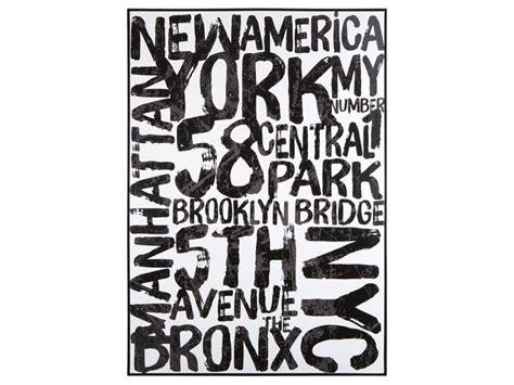 imagenes retro en blanco y negro cuadro nueva york letras en blanco y negro estilo vintage