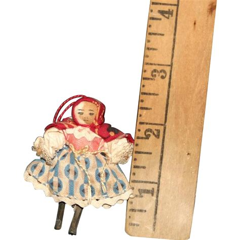 types of jointed dolls miniature wooden grodner type jointed doll cloth covered