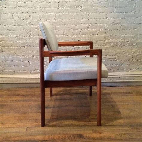 jens risom armchair mid century modern teak upholstered armchair by jens risom