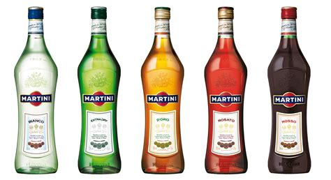 Bottles Alcohol Martini Liquor White Background High