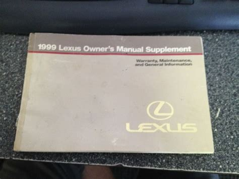 1999 lexus ls400 owners manual ebay