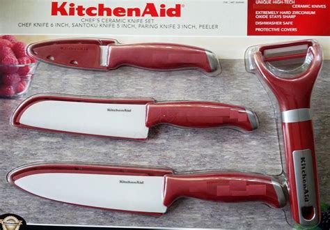 Kitchen Aid Knives by Kitchenaid Ceramic Knife 4 Pc Set Blade Peeler Kitchen Aid