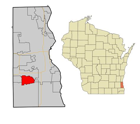Milwaukee County Search File Milwaukee County Wisconsin Incorporated And Unincorporated Areas Greendale