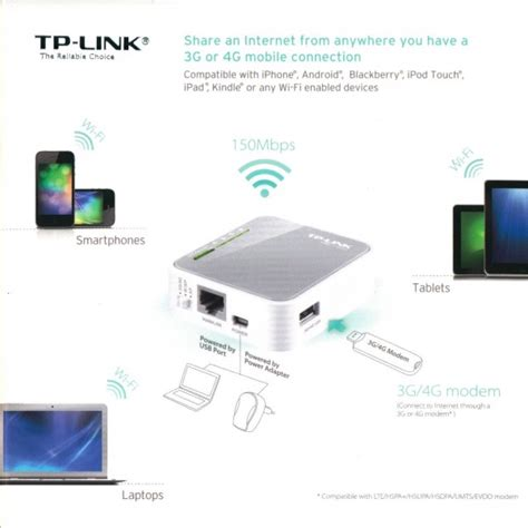 Modem Usb Tp Link tp link tl mr3020 portable 3g 4g usb modem wireless n wifi router 6935364051709