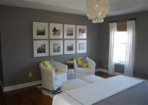yellow and gray bedroom contemporary bedroom benjamin galveston gray