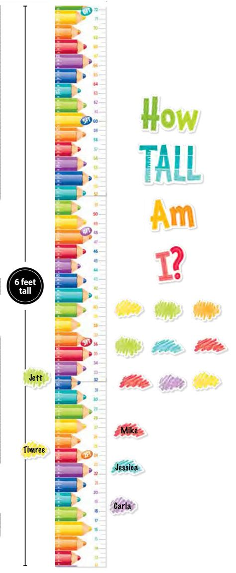 printable children s growth chart 63 best images about all about me crafts on pinterest