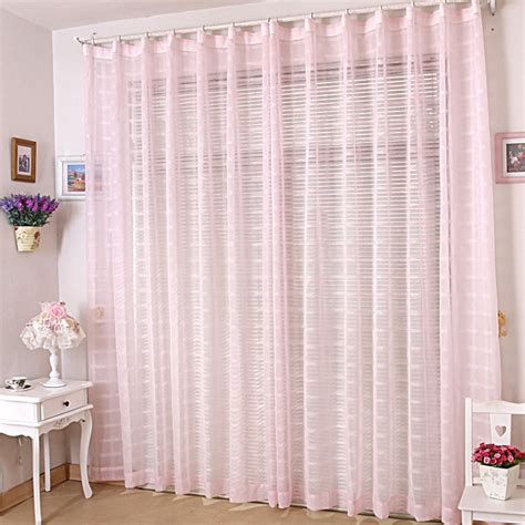 Plaid Curtains And Drapes Romantic Light Pink Sheer Curtains For Bedrooms
