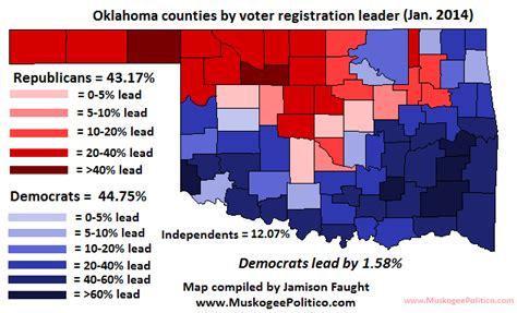 oklahoma voter list information oklahoma voter registration map january 2014
