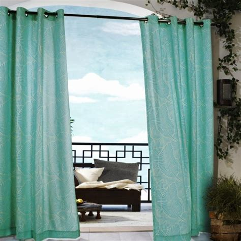 leaf pattern grommet curtains 10 relaxing outdoor curtain designs rilane