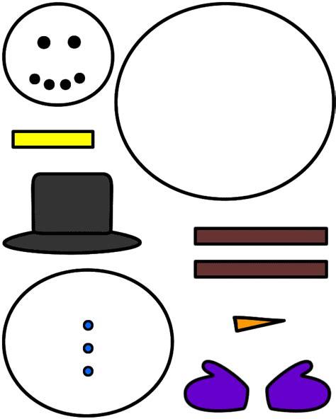 snowman paper craft color template