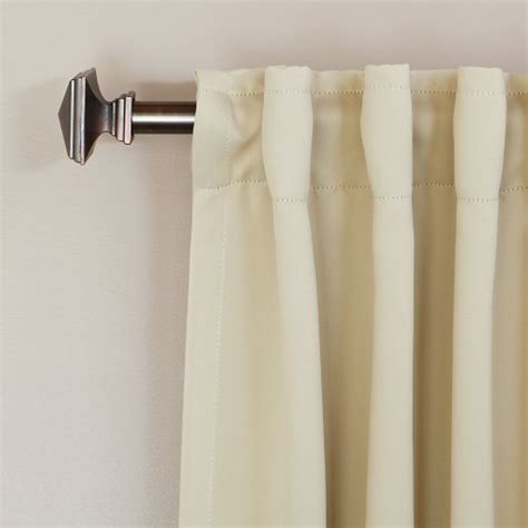 solid thermal insulated blackout curtain solid thermal insulated back tap blackout curtain 52 w x