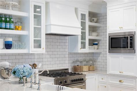 hood range small u shaped kitchen designs white tile backsplash small u shaped kitchen with small floating shelves