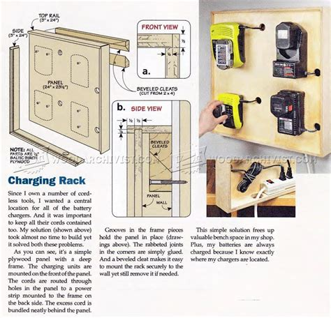 charging station plans cordless tool charging station plans woodarchivist