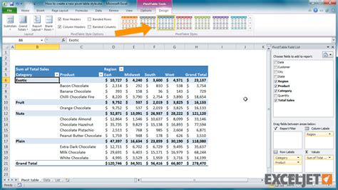 how to create a pivot table in excel 2013 excel tutorial how to create a pivot table style