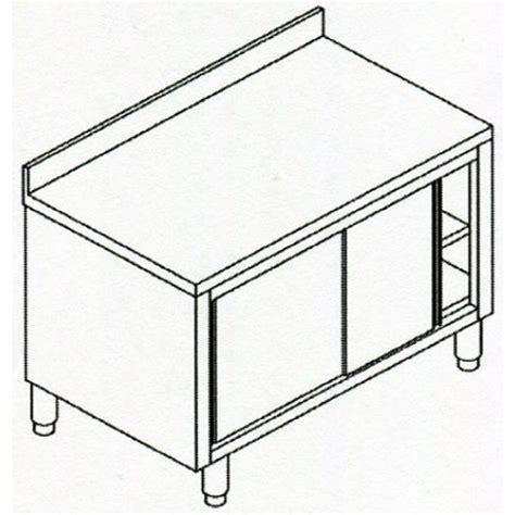 tavoli in acciaio inox per ristorante usati tavoli armadiati in acciaio inox aisi 304 con ante