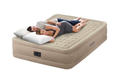 intex queen raised ultra push fiber tech air bed mattress