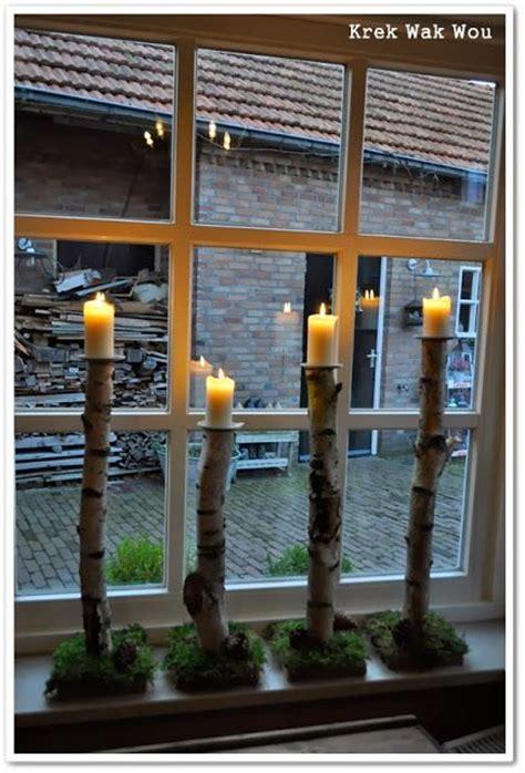 outdoor dekorationen krek wak wou berkenstam kandelaars en uitslag give away